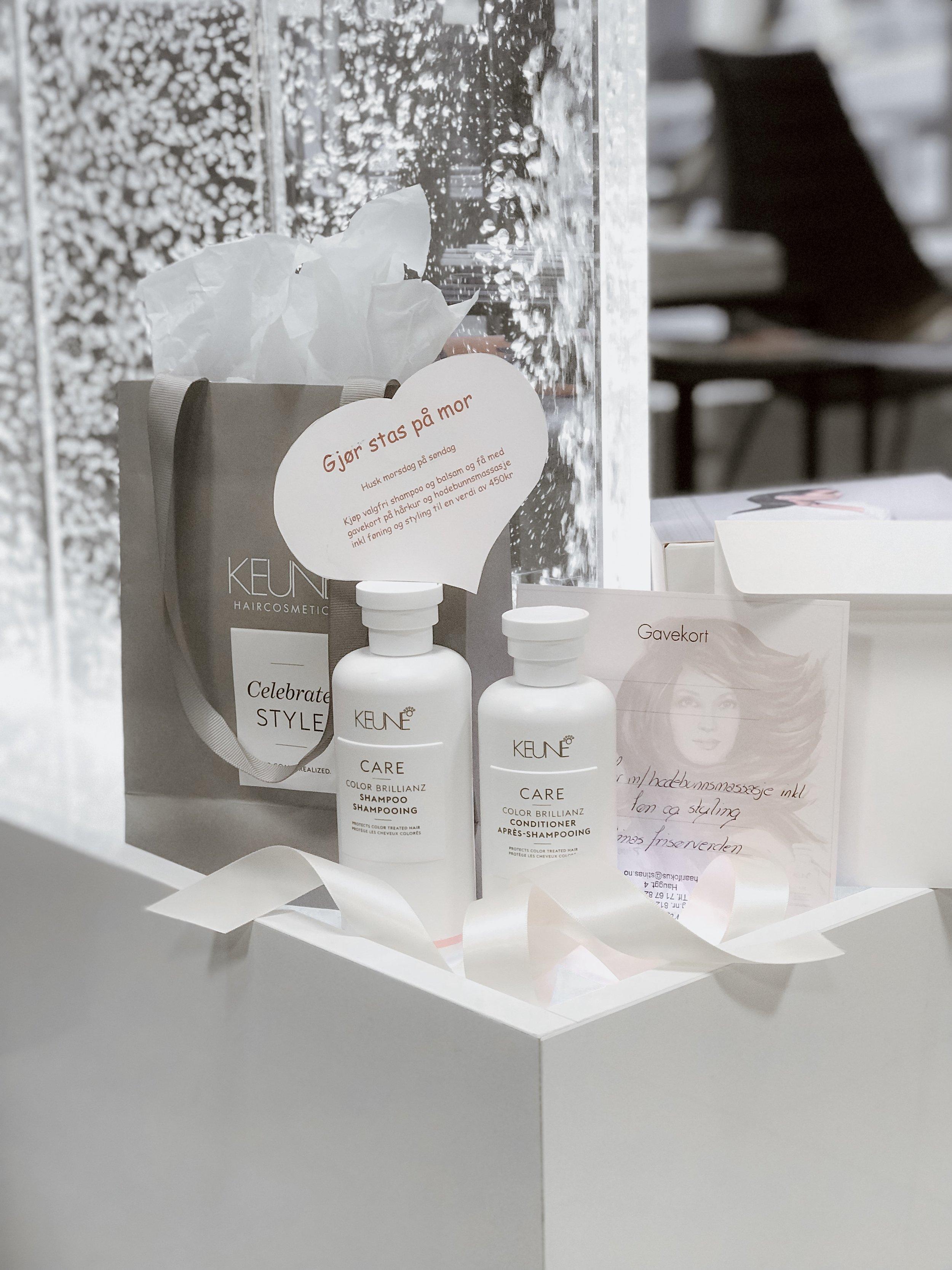 gavepakning til morsdag på Stinas frisørverden. Få med gratis gavekort