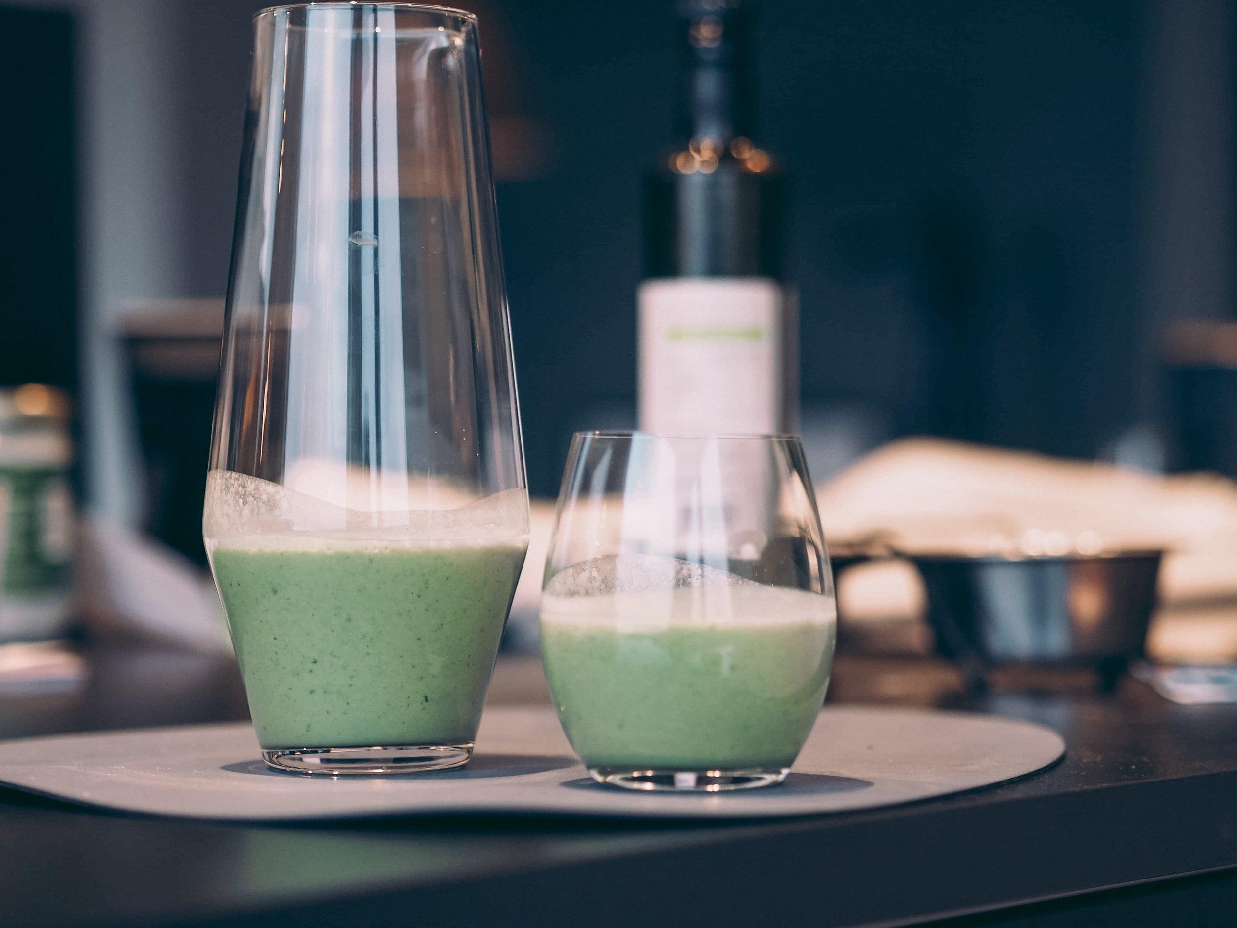 Grønn smoothie inspirert av berit nordstrand