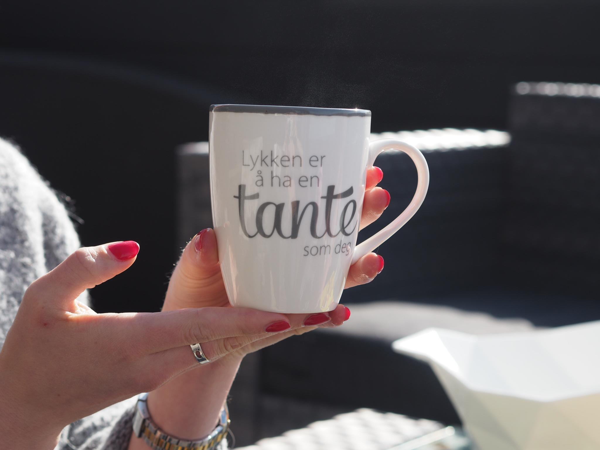 fineste kaffekoppen min som jeg fikk til jul fra tantebarna mine❤️
