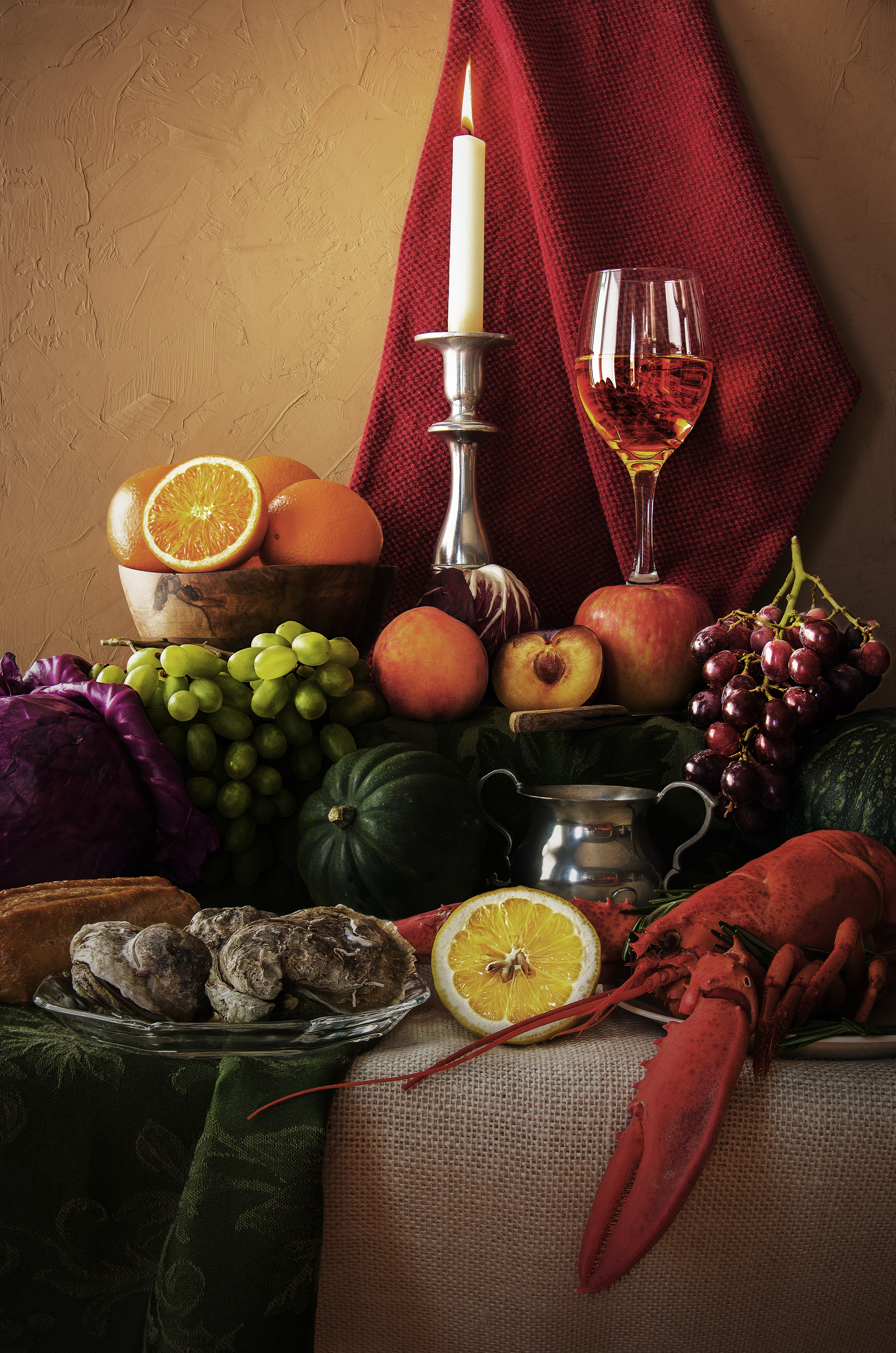Still Life with Lobster and Oysters