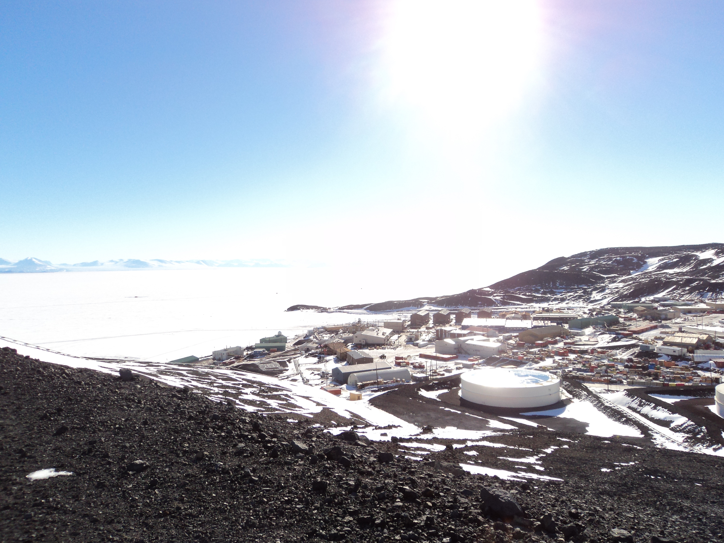 A view of McMurdo from about half way up ObHill.