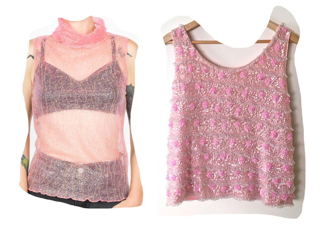 1.  sheer! metallic!  2.  wearable bubblegum!