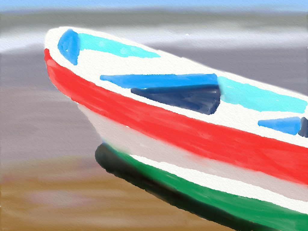 Final Boat Oil Painting