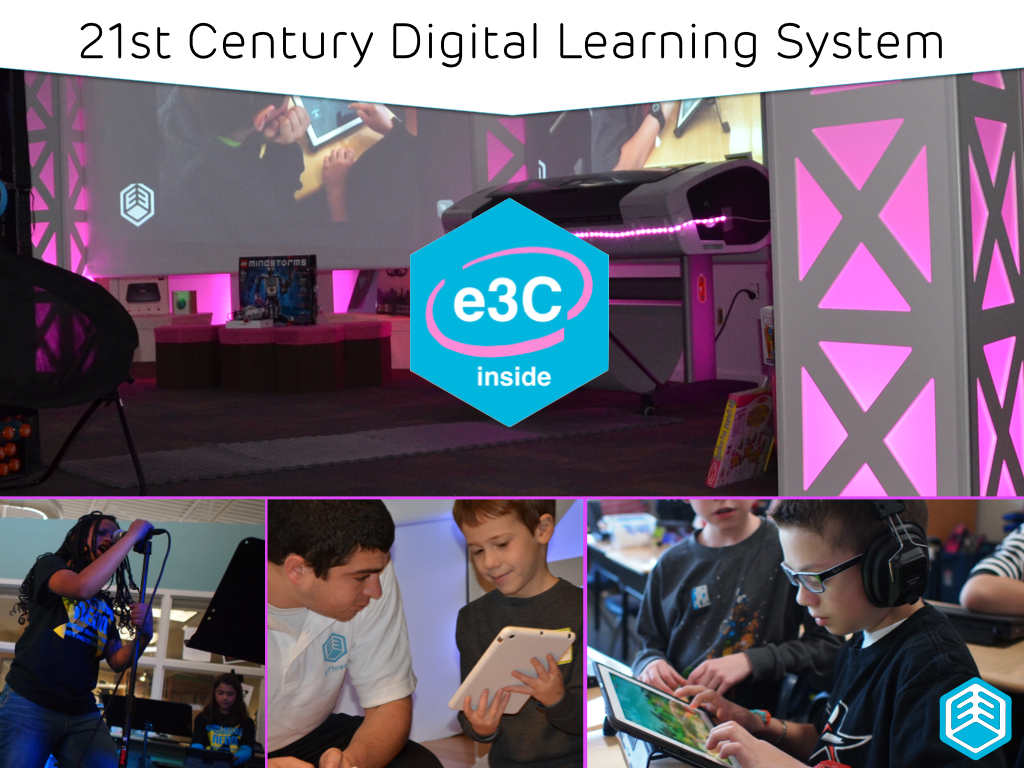 Proprietary 21st century learning delivery technology system and platform powering eThree learning experiences