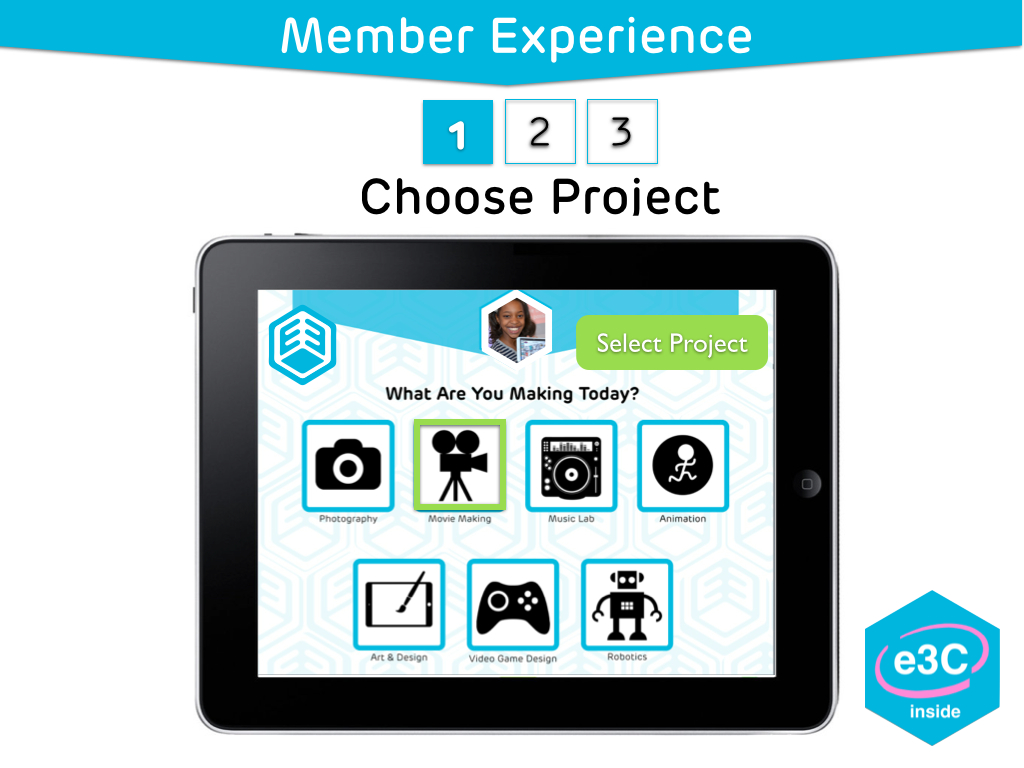 eThree Experience Player gives member a choice of project
