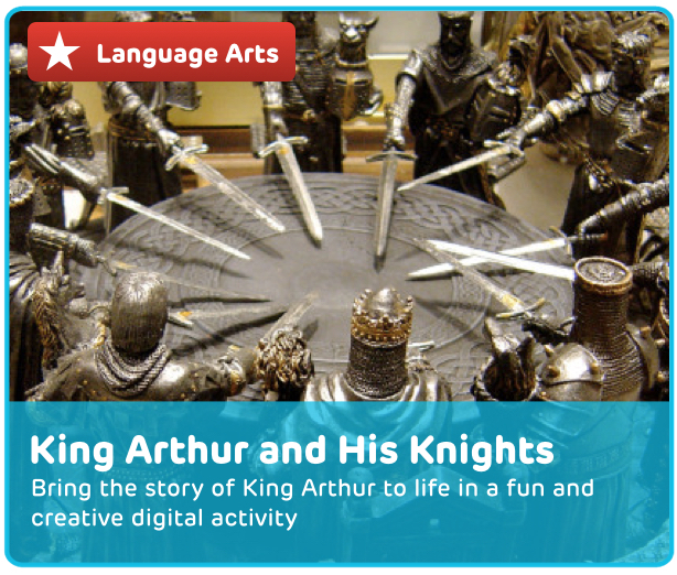 King Arthur and The Knights of the Round Table Digital Activity