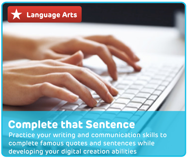 Sentence Completion Digital Activity