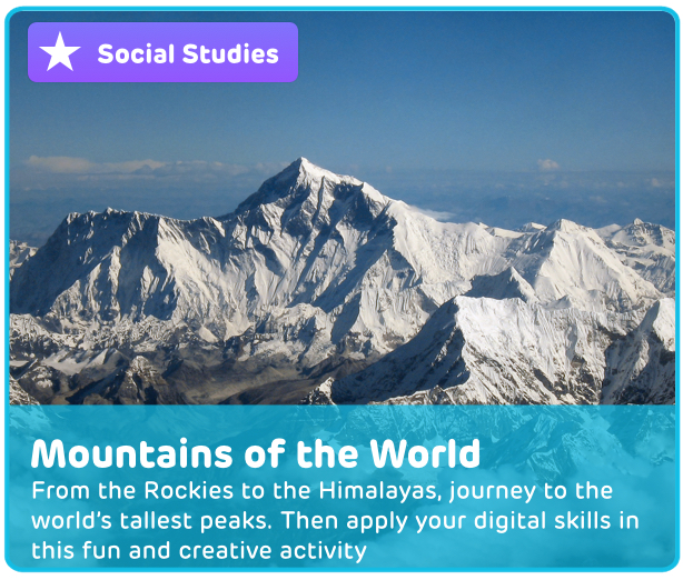 Geography and Mountains Digital Activity