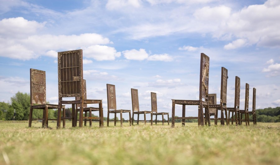 Hew Locke, The Jurors, Art at Runnymede. Image © Max McClure / Situations