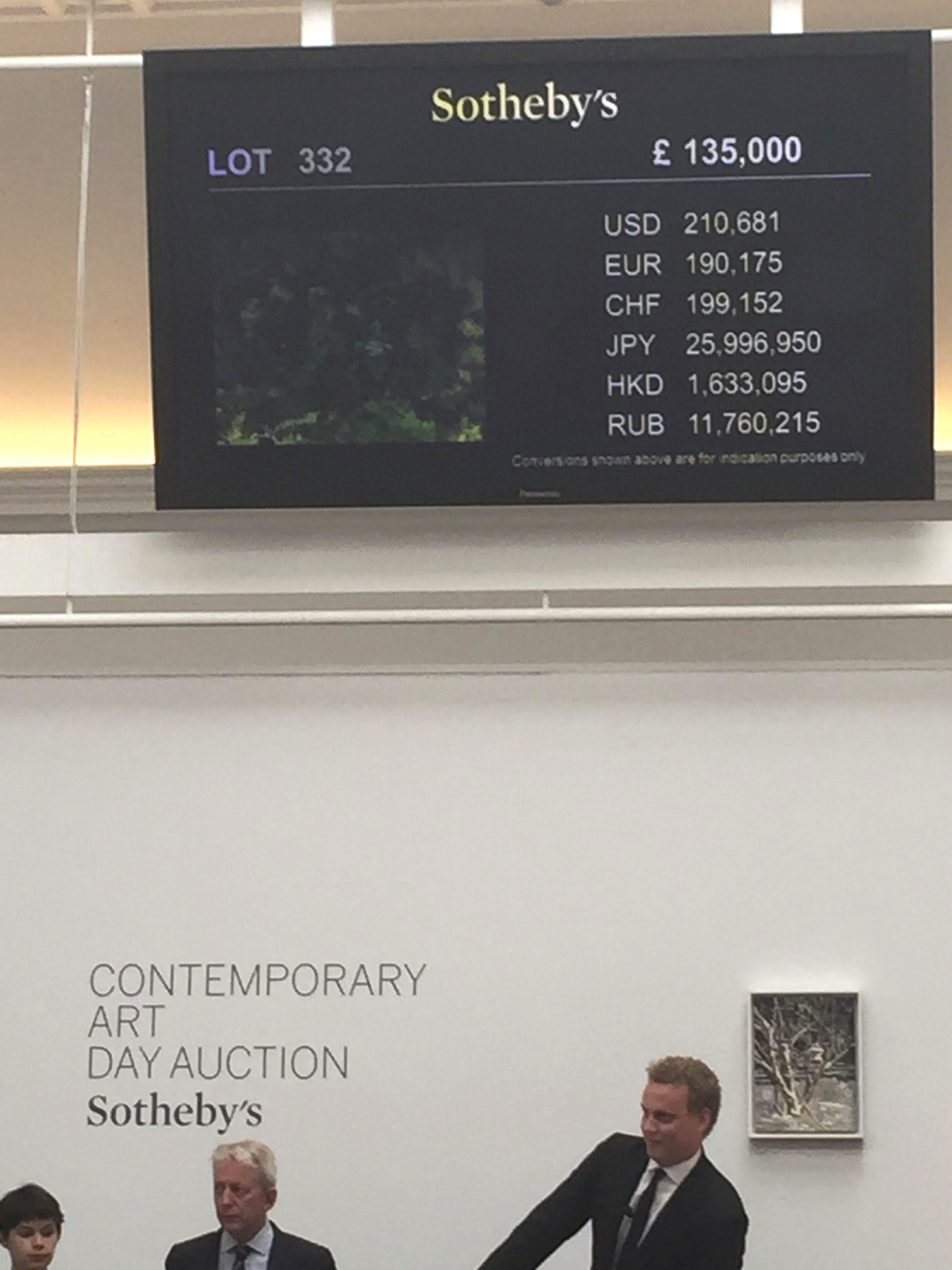 Auctioneer Alex Branczik at Sotheby's London