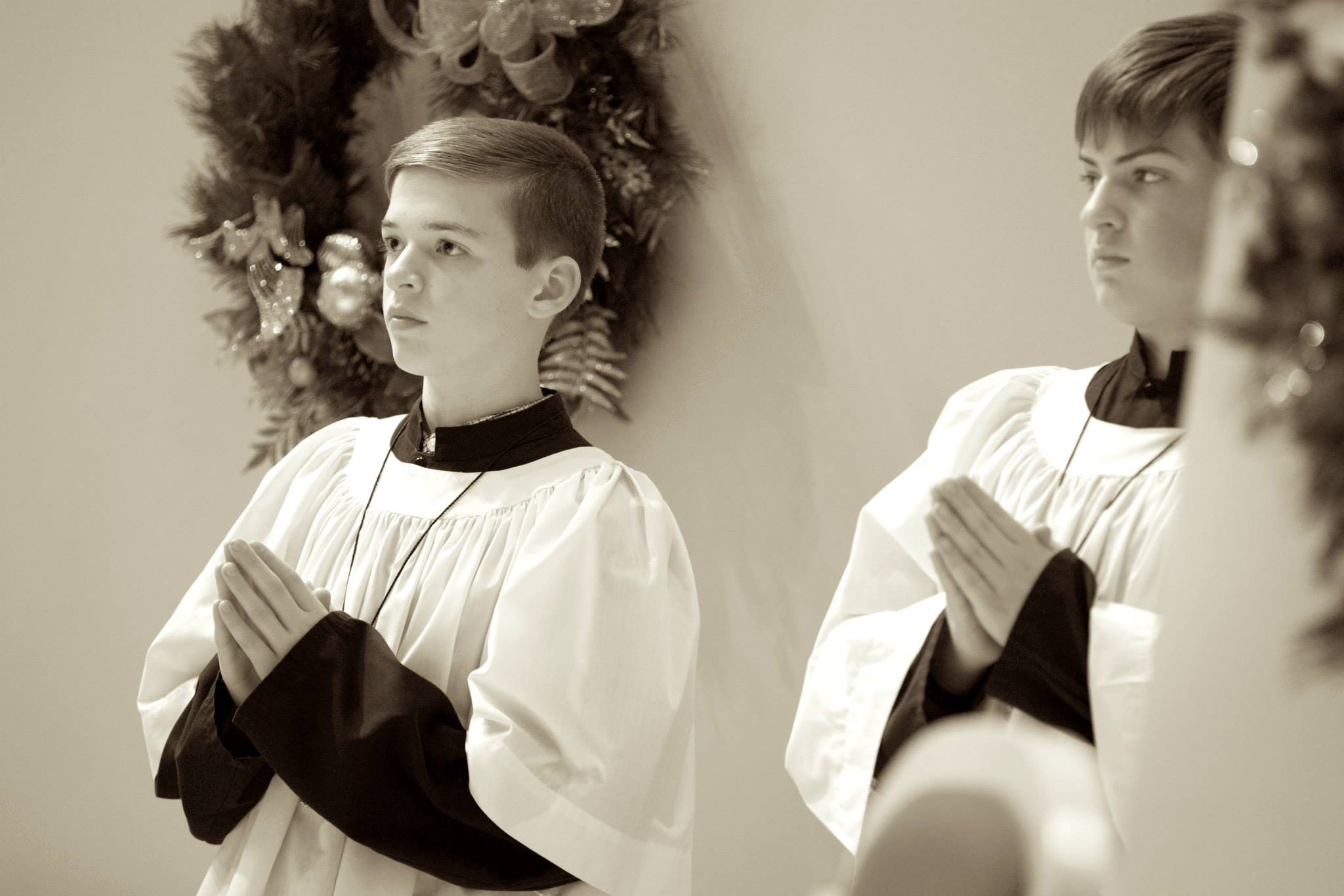 Joseph and Jacob. Jacob is in charge of the altar servers and liturgical overseer for Adorations at Encounter.