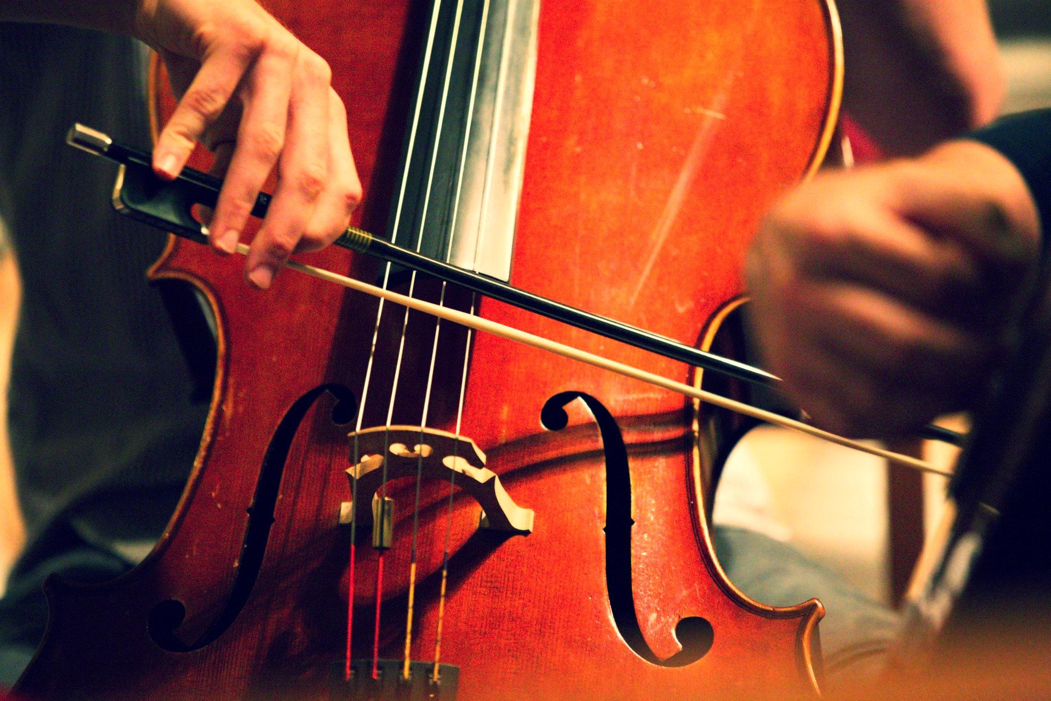 Nathaniel on cello