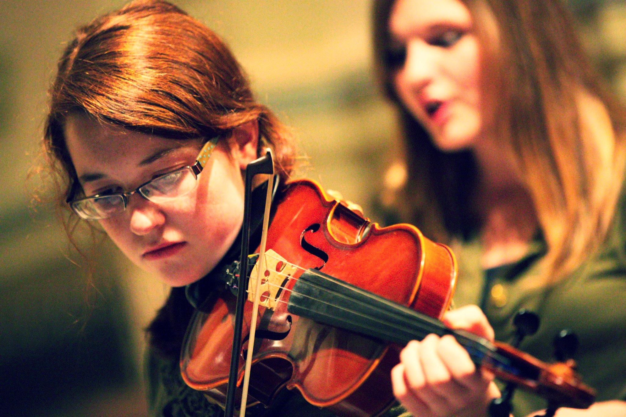 Katherine on violin