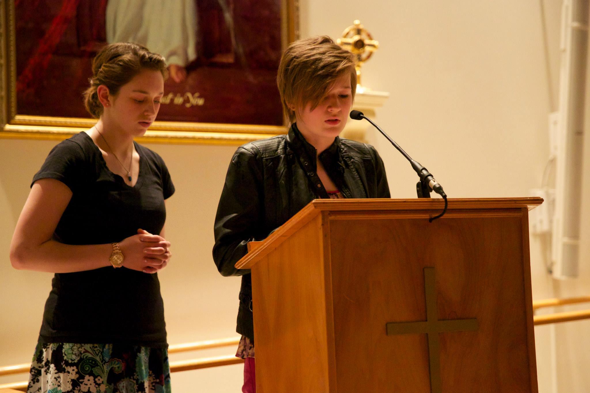 Christiana and Teah reading Meditations
