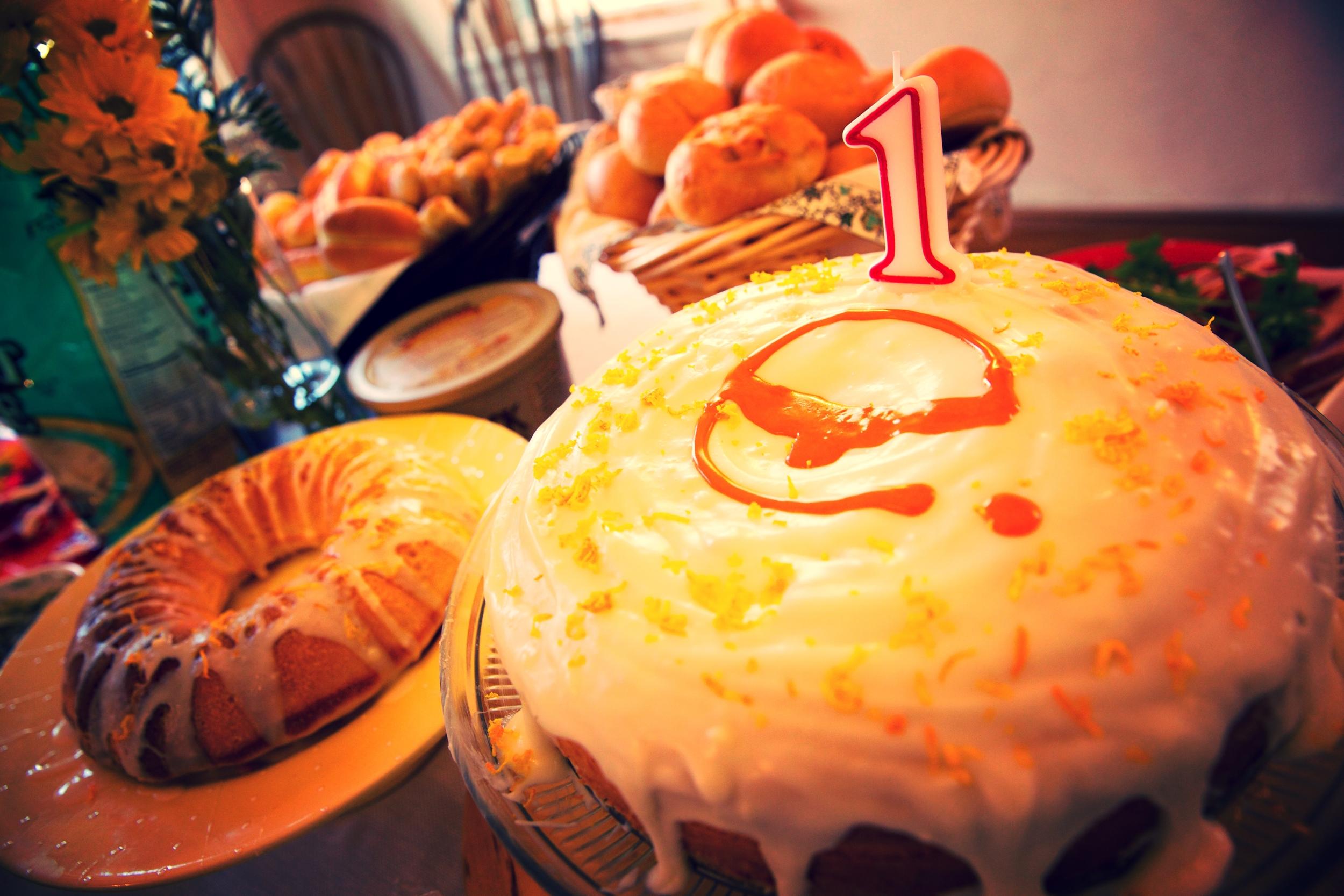 Cake with funky 'e'