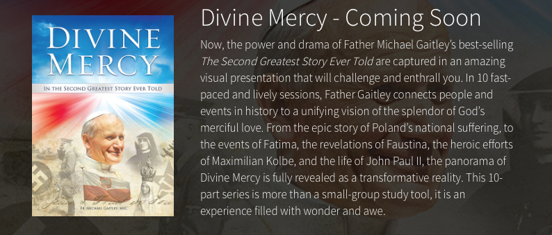 Staring in April, we will incorporate videos based on Fr. M. Gaitley's book.
