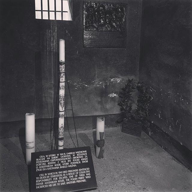 Fr. Kolbe's starvation death cell. #majorchange #encounter #pilgrimage #kolbe
