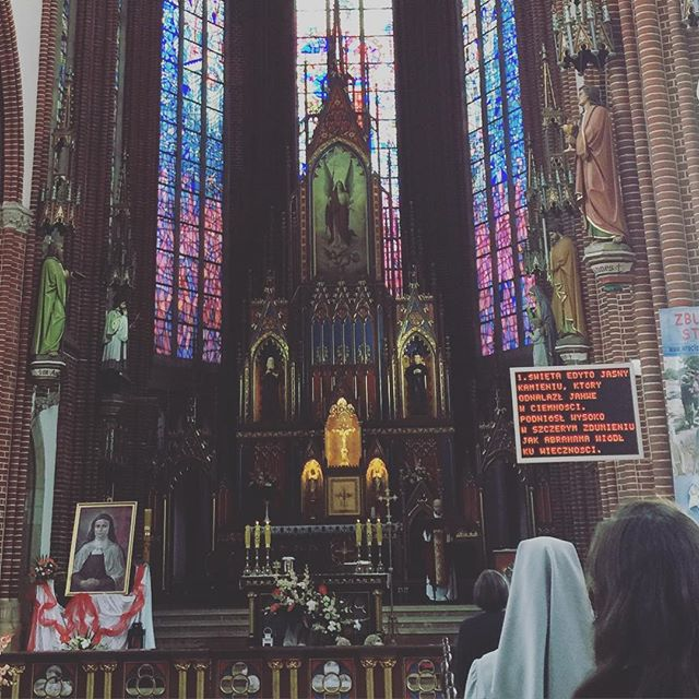 Mass in the St. Michael Archangel church in Wrocław where Edith Stein prayed and participated in daily Mass. #majorchange #encounter #edithstein #mystic #contemplative #pilgrimage