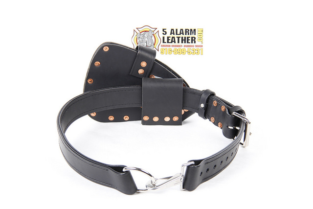 Black Leather w/Silver Hardware