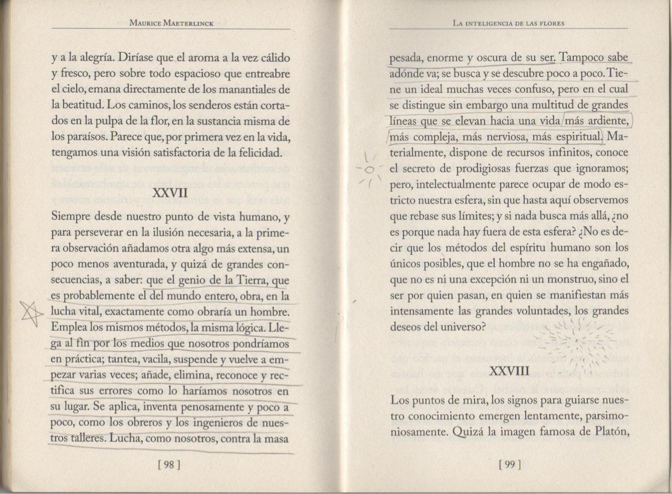 "1.   Excerpt from Maurice Maeterlinck's ""La inteligencia de las flores"" (The Intelligence of Flowers) \"