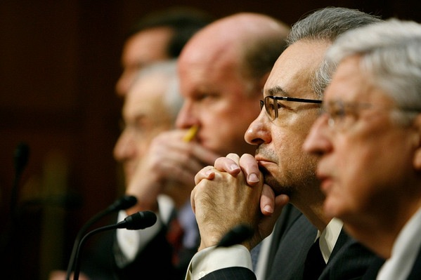 Testifying before the Senate Judiciary Committee with (left to right)  Charles Fried, Mike Carvin and Walter Dellinger