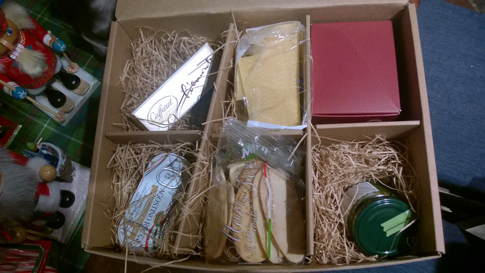 """Components of """"Italy In The Box."""""""