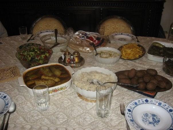 Lunch at home of my friend in Damascus.