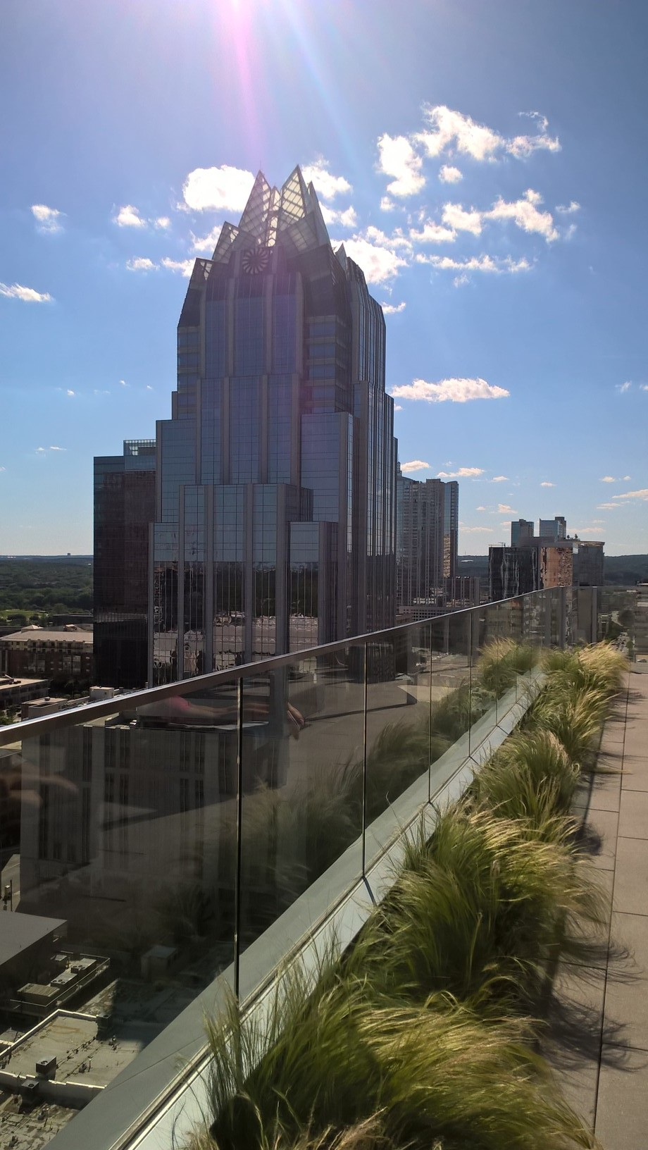 Gorgeous View from 20th Floor of the Westin Austin Downtown.