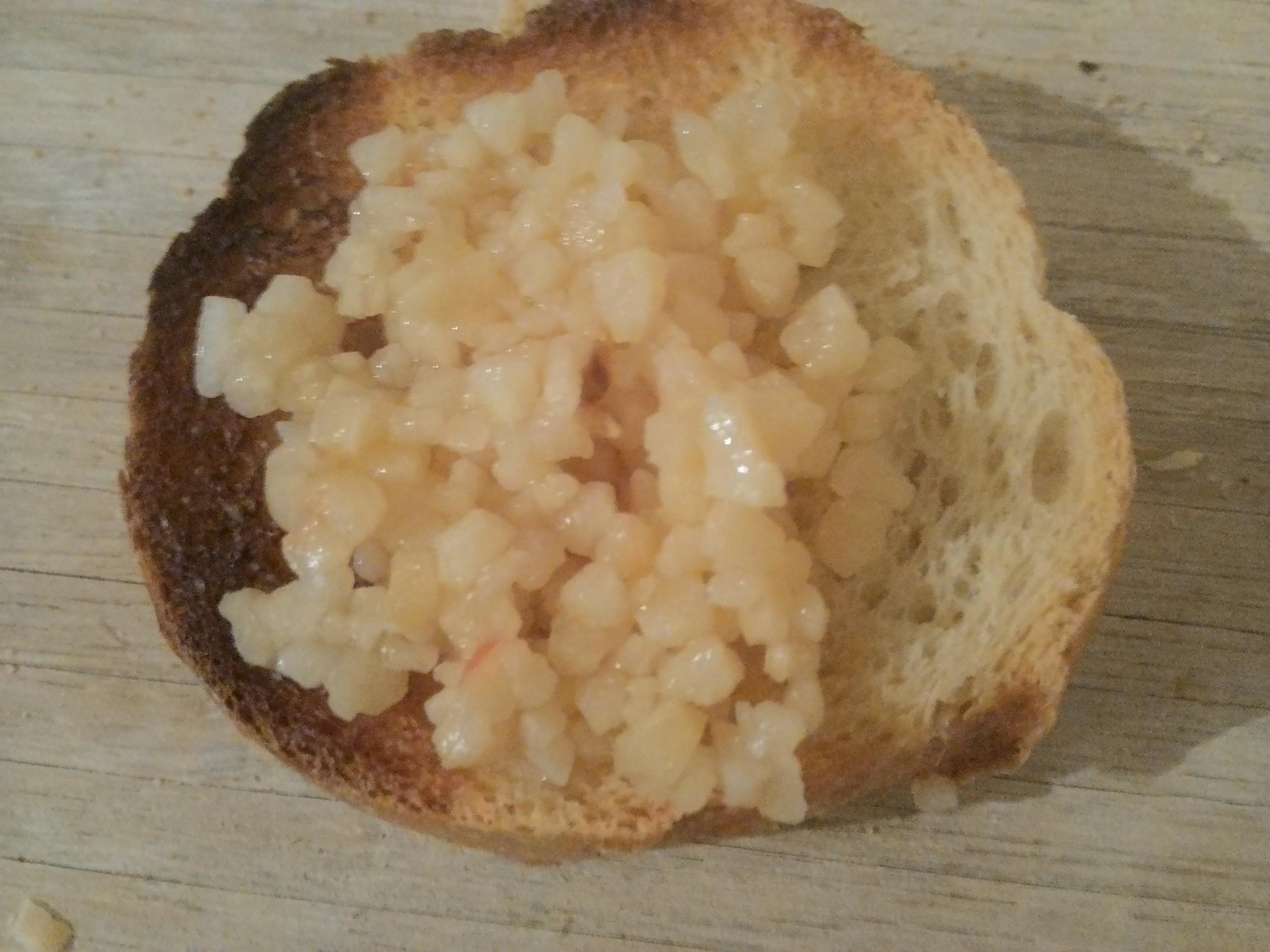 Step 2: Minced garlic
