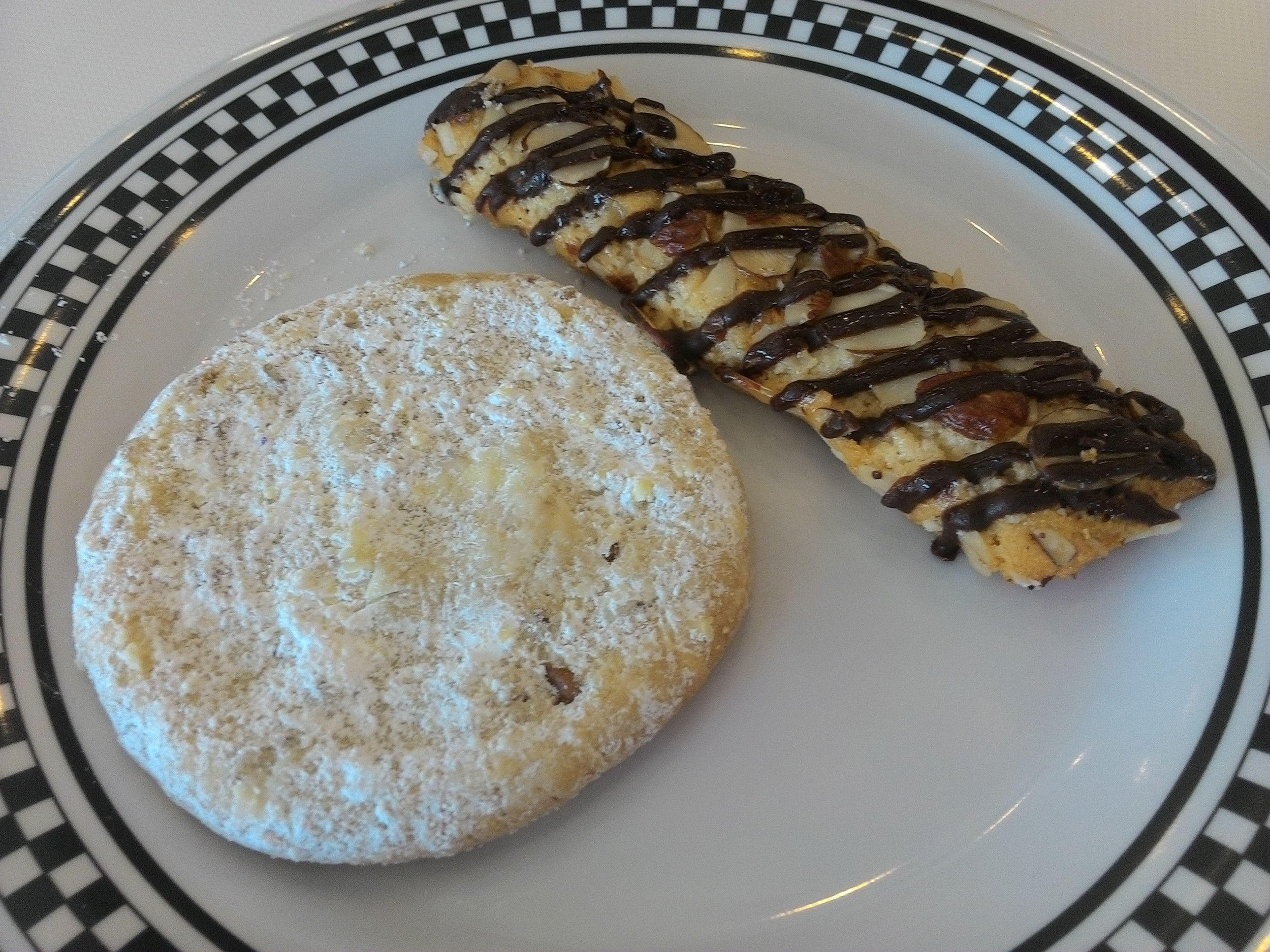 Mexican Wedding Cookie and Almond Stick