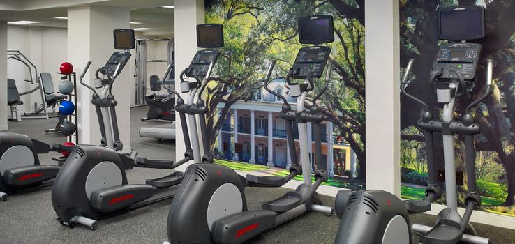 Many, many machines mean you can work out without the wait.