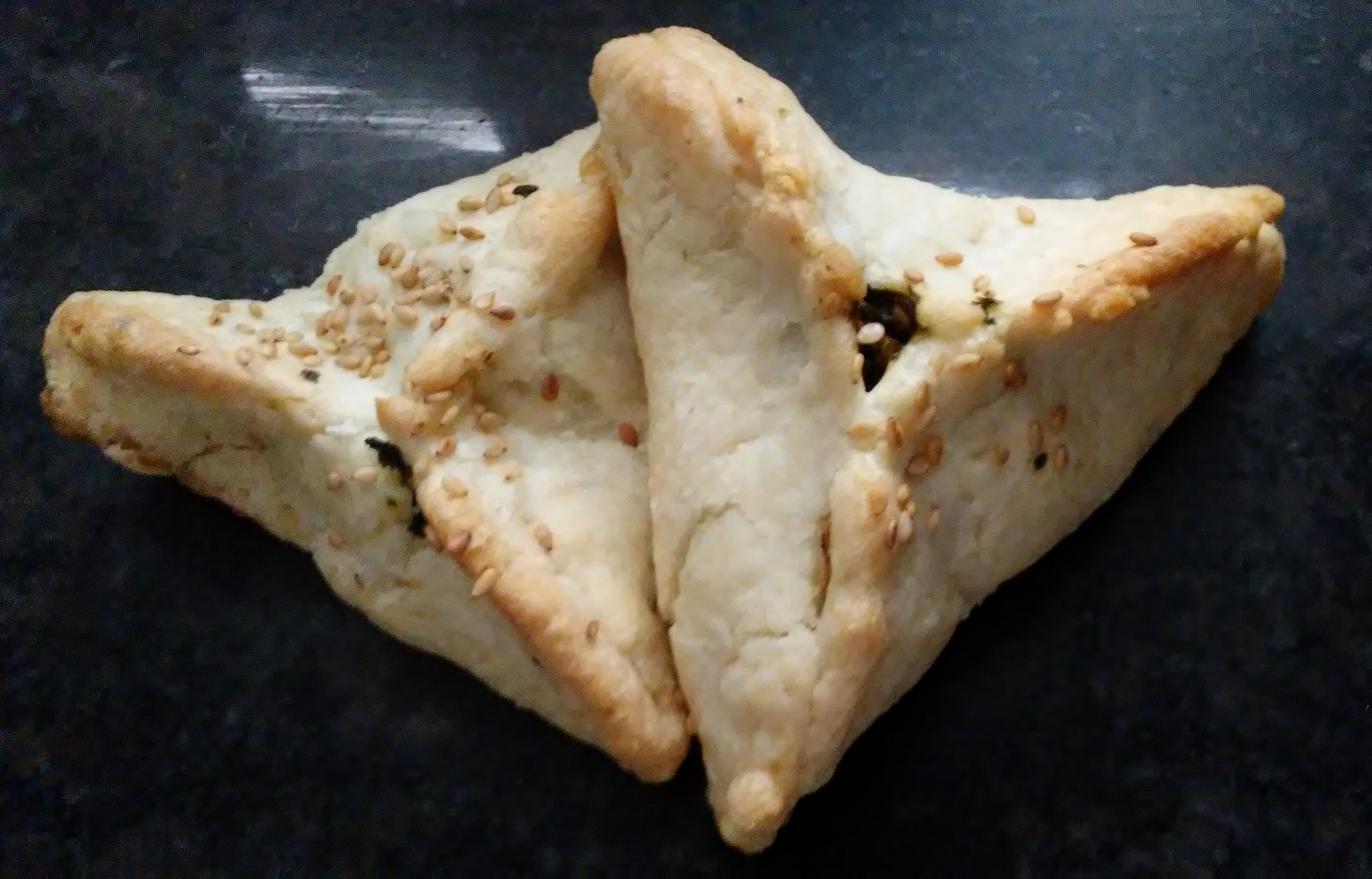 My version of fatayer involves sesame seeds.