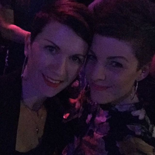 Bestie. @lights. @dearrouge. The perfect eve. Happy Fri-yay! #bestie #elements #dearrouge #mamasnightout 💛💛💛