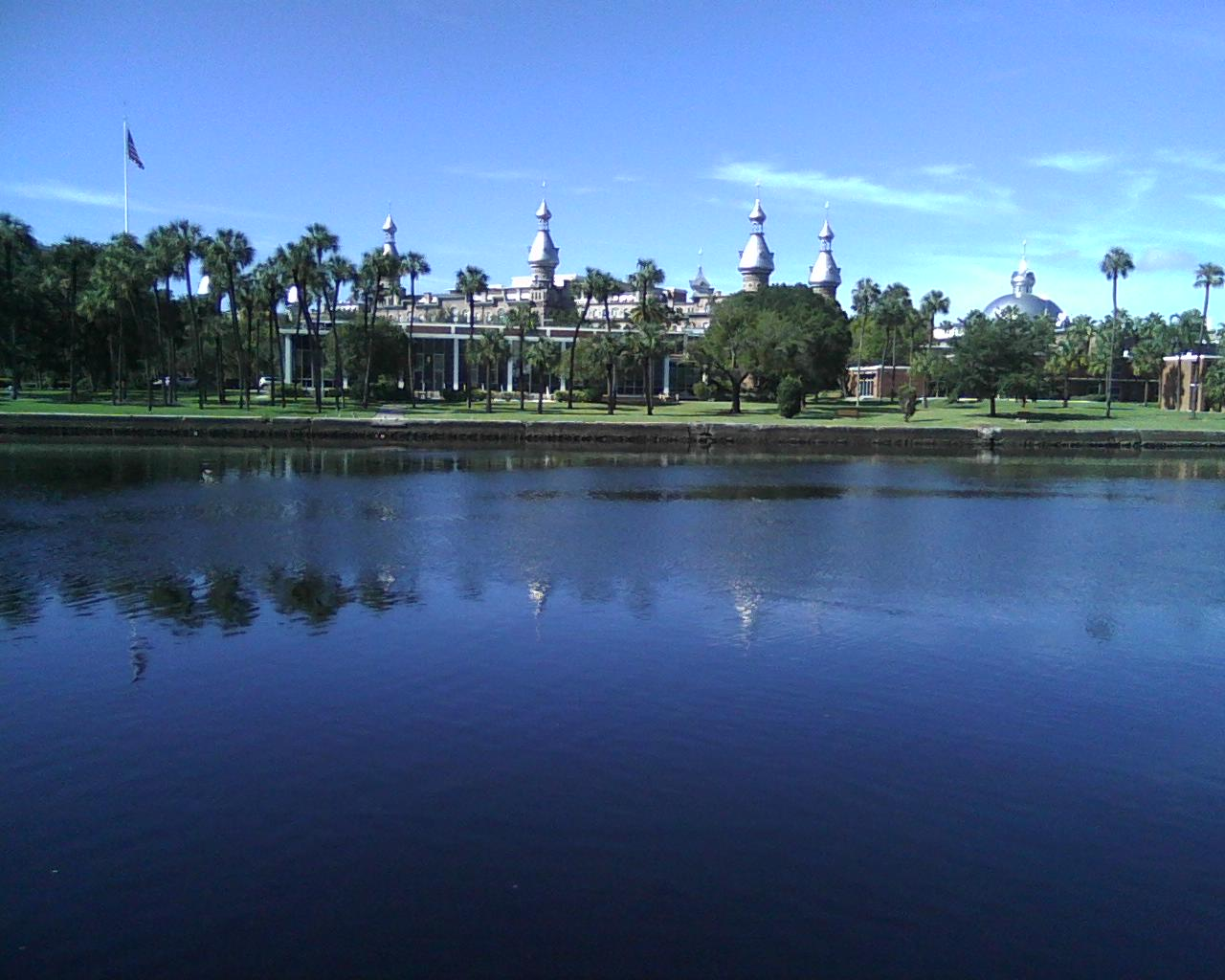 LOOKING TOWARD THE FUTURE: The University of Tampa's Plant Hall as seen across Hillsborough River from Curtis Hixon Waterfront Park.