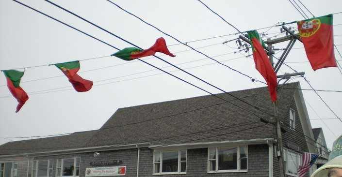 GETTIN' MY PORTUGUESE ON Let those Portuguese flags fly.