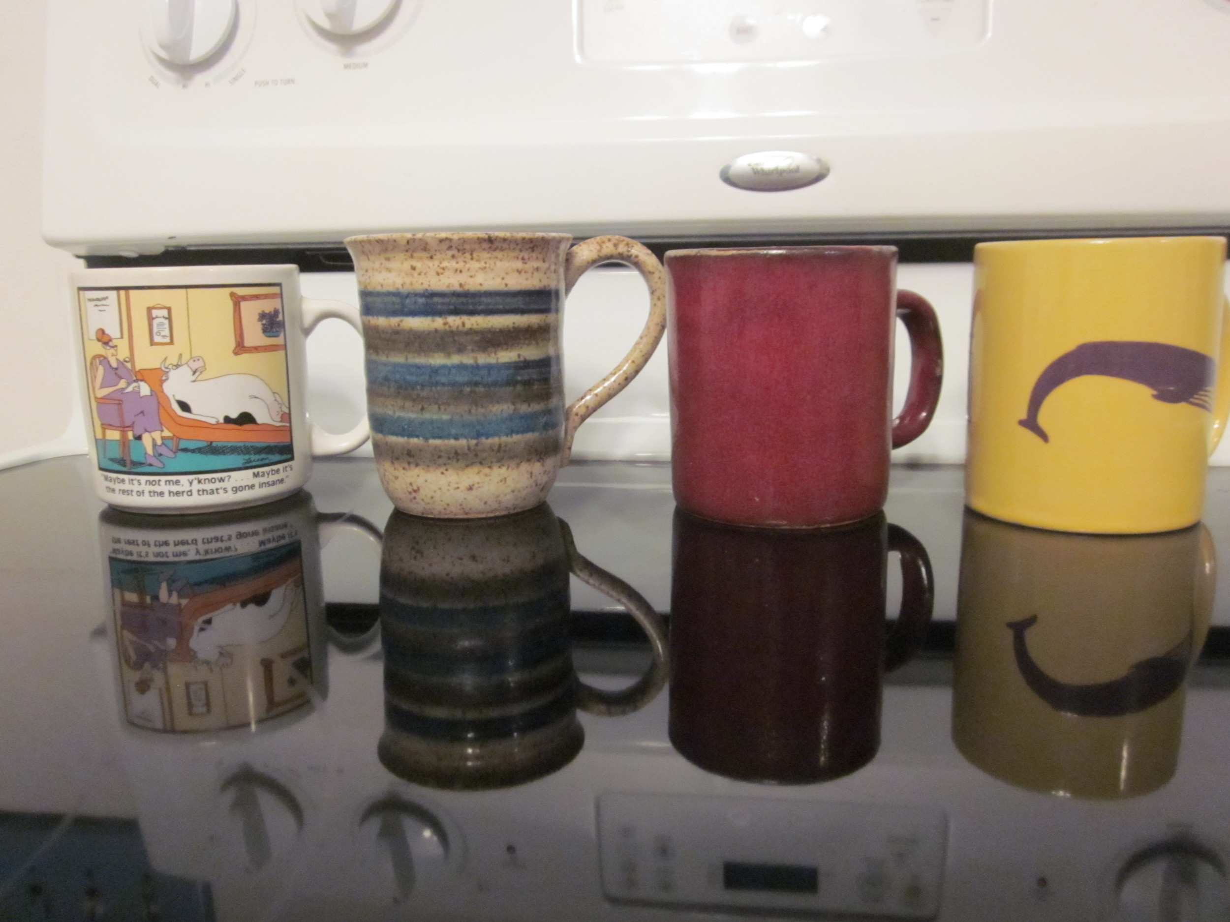 GULPS of GRATITUDE Many of my favorite mugs were gifts from loved ones.