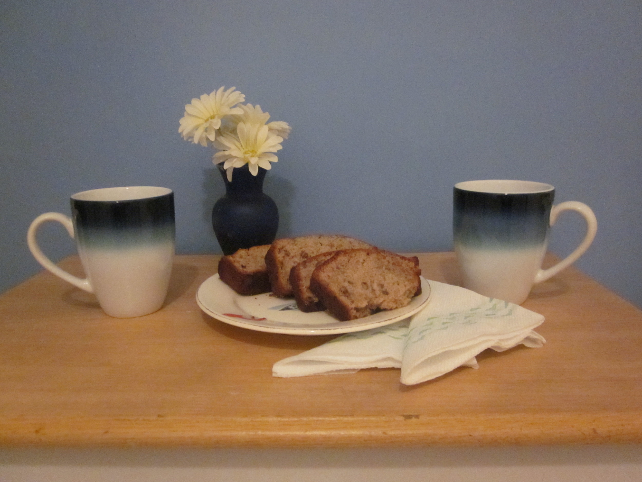 LOVE MATCH -- A WONDERFUL WAY TO START THE DAY Coffee is made for sharing in these matching blue ombre mugs.