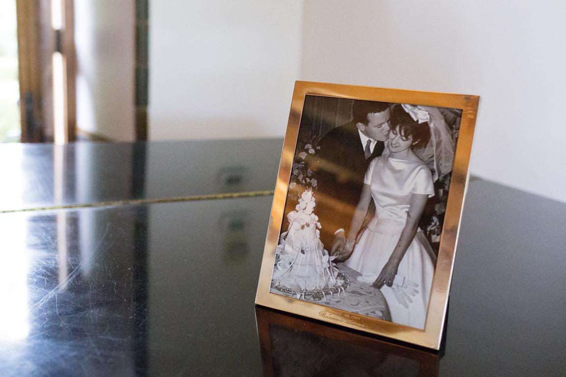 1961 photograph of david & delcia rusk - parents of groom