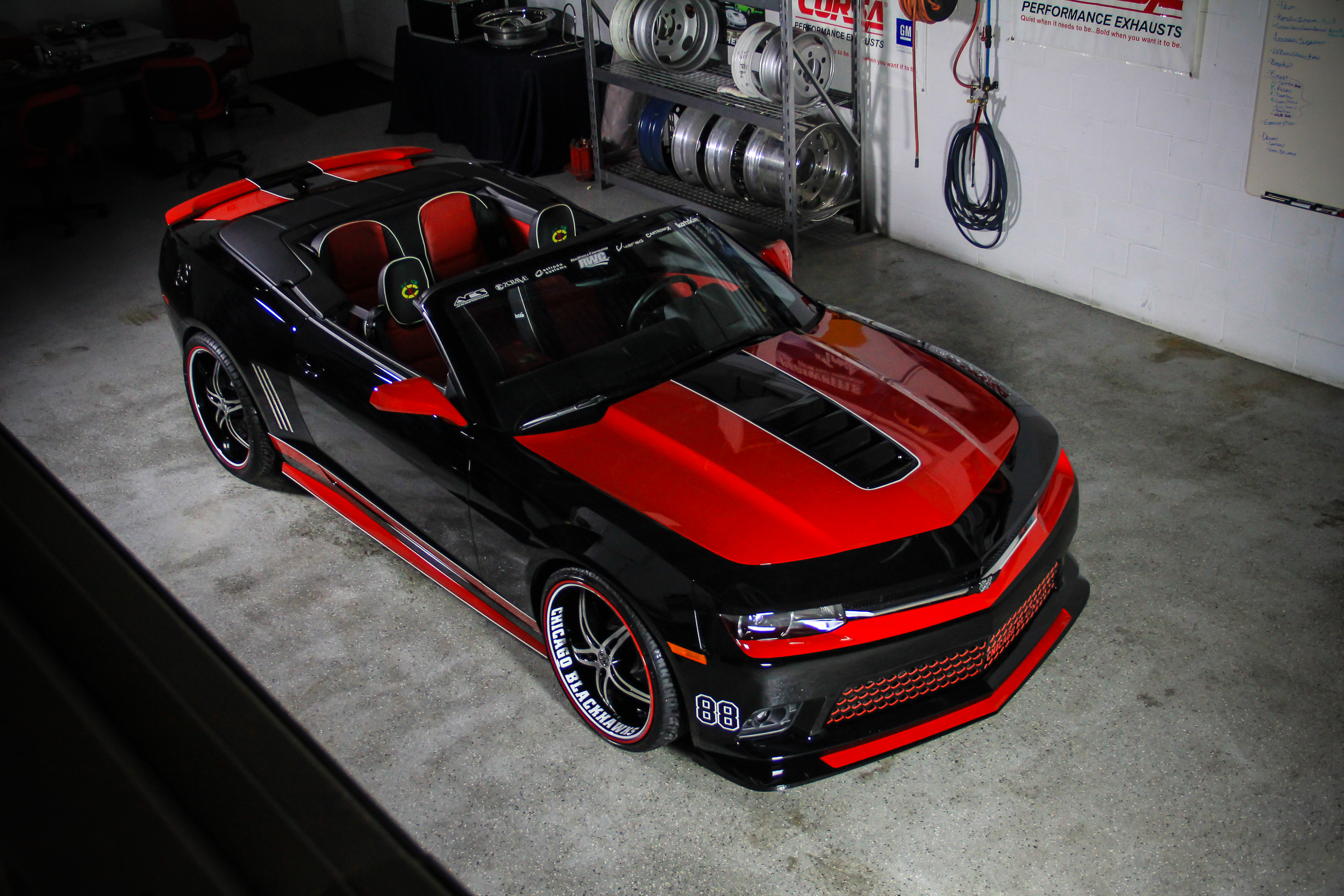 2014 Chicago Blackhawks Chevy Camaro SS Convertible. Brought to you by Chevy Drive Chicago.