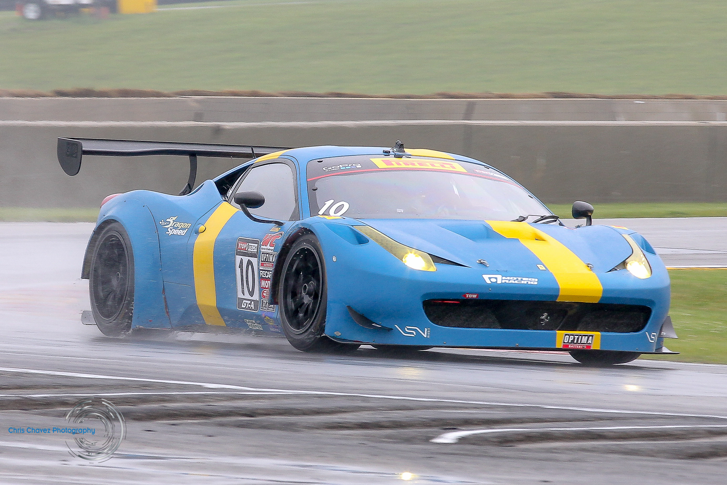 #10 Henrick Hedman racing with Dragon Speed in the Ferrari 458 GT3