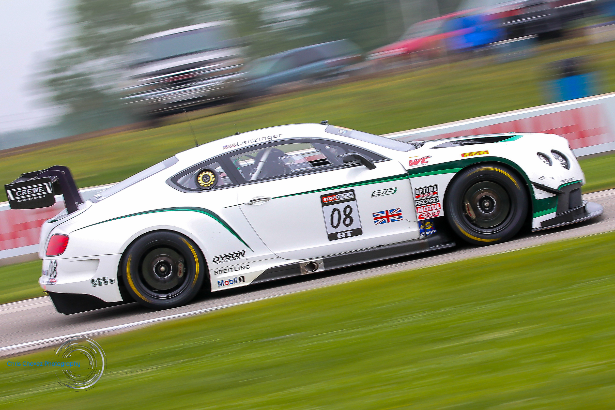 #08 Butch Leitzinger - Dyson Racing - Bentley Continental GT3  Want to see more, click on image to be redirected to gallery.