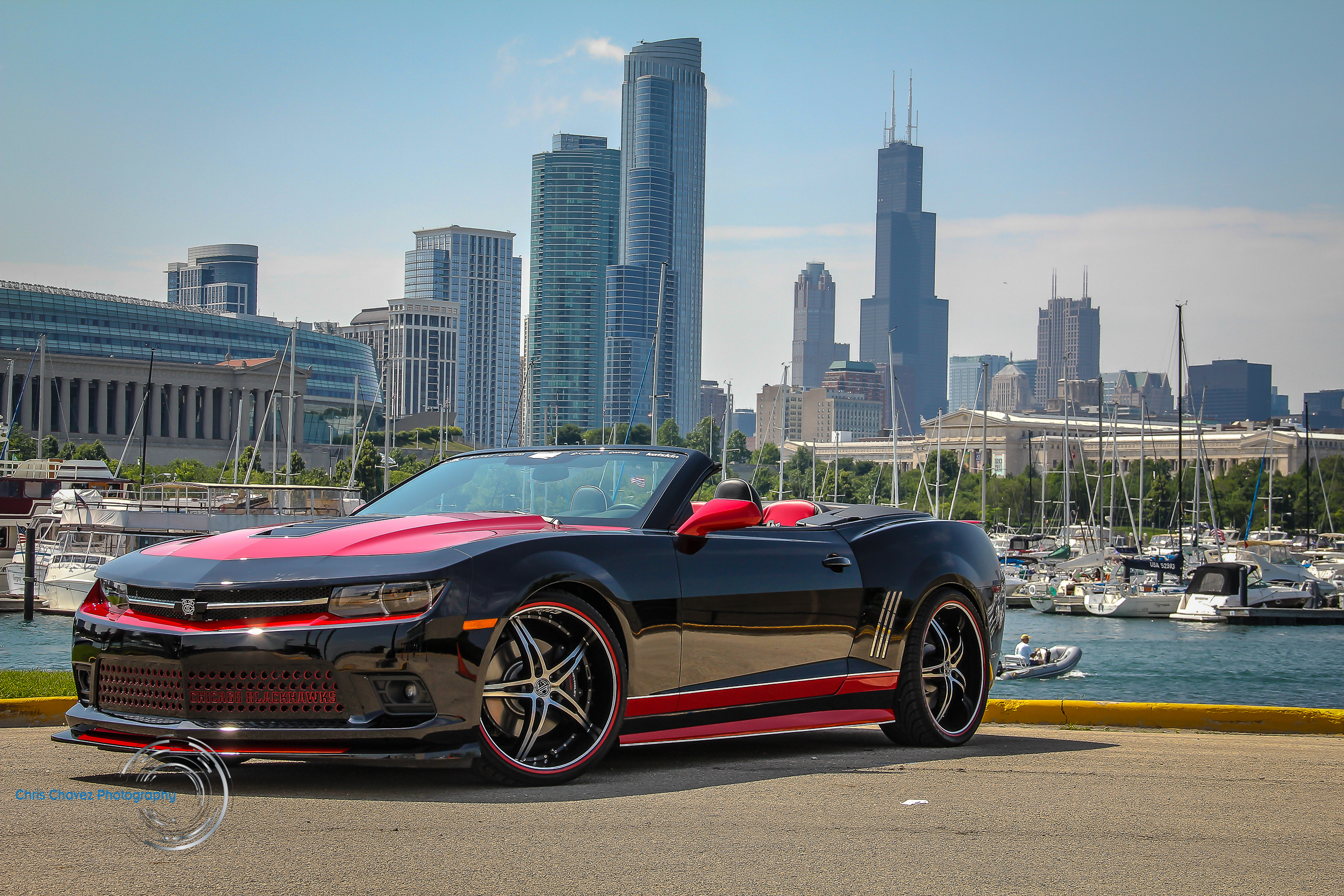 2014 Chicago Blackhawks Chevy Camaro SS Convertible -  Picture provided by Chris Chavez Photography