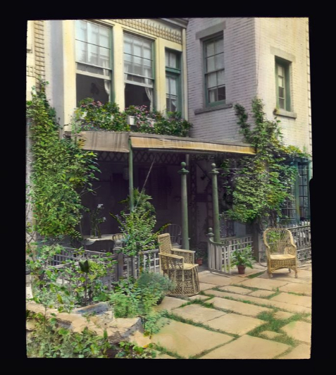 Photograph by Frances Benjamin Johnston of Charles Clinton Marshall house, 117 W. 55th Street, NYC. Library of Congress.   ppmsca 16659  http://hdl.loc.gov/loc.pnp/ppmsca.16659