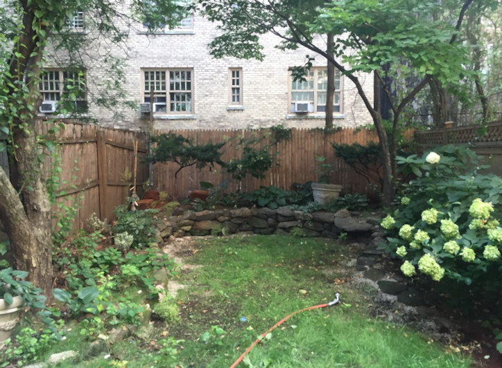 """BEFORE"" image of an Upper West Side backyard. Designs underway!"