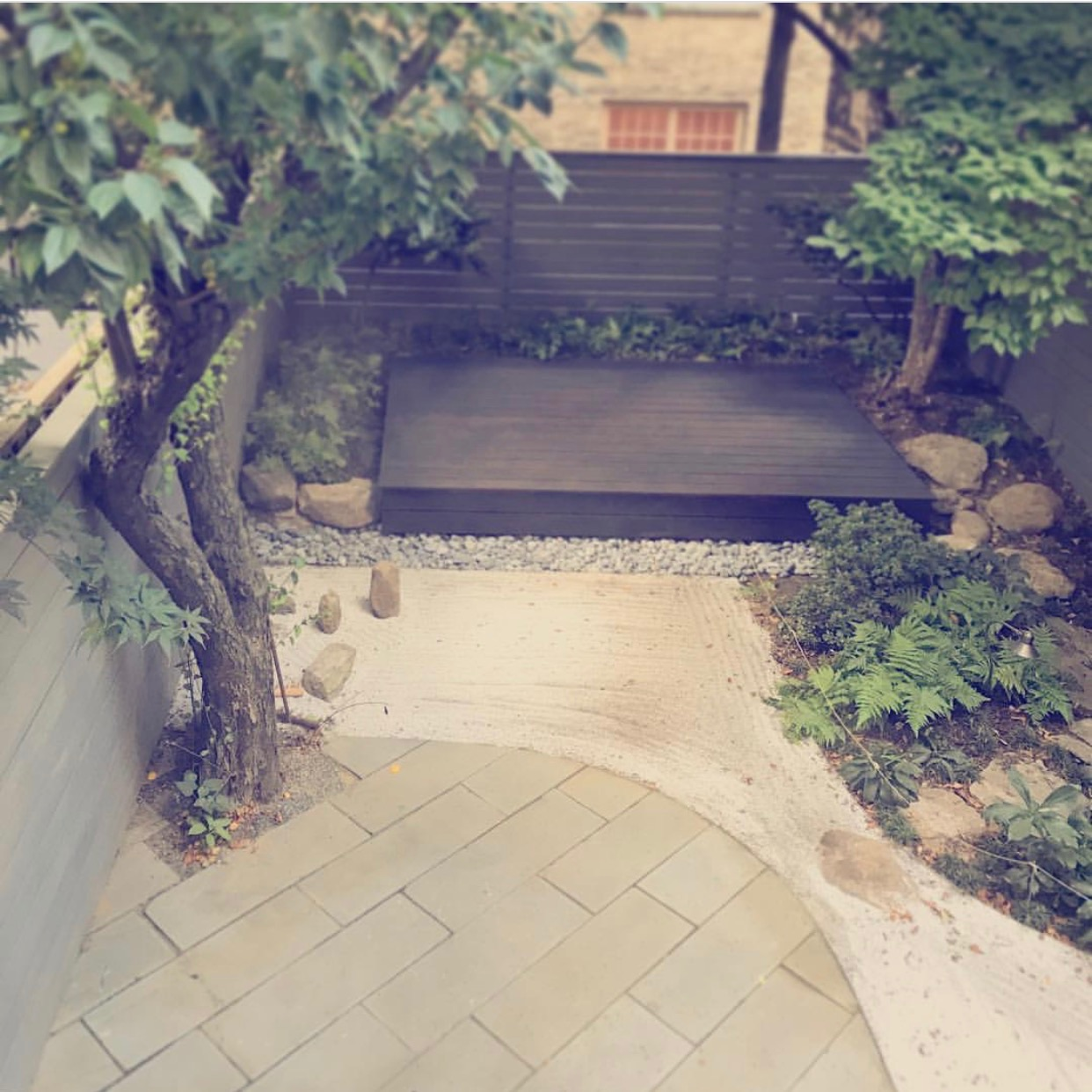 Brownstone backyard, Japanese garden (80% complete -- just waiting on the tea house!)