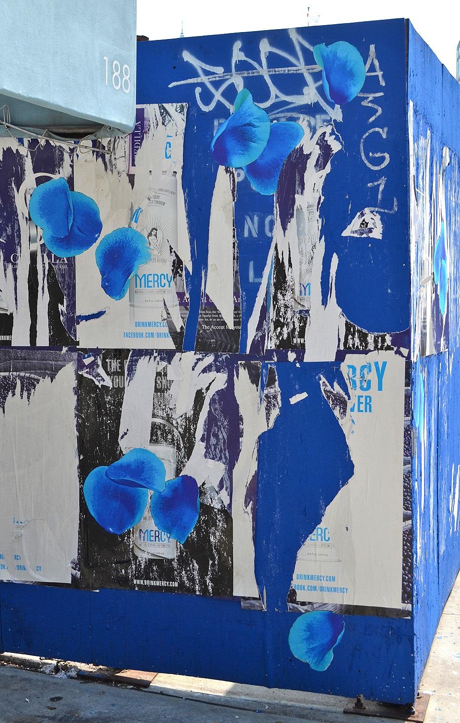 6th Avenue Blue Petal Toss, NYC