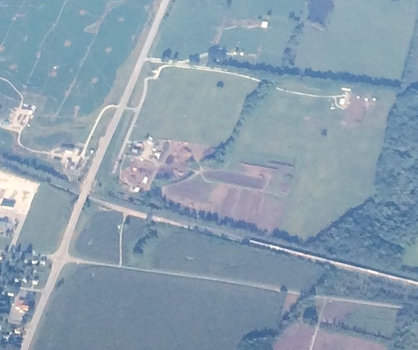 Ariel view of Lawn-Corps from a United flight.
