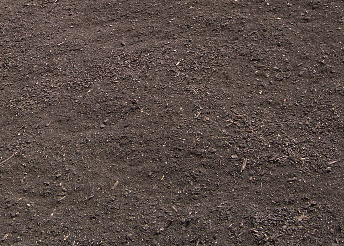 ENRICHED TOPSOIL  $33 per cubic yard A premium topsoil blend made of 50% topsoil/50% compost. Perfect for gardens, general lawn repair, over seeding, filling in low areas or establishing a new lawn. Easy to work with, pulverized and ready for use.