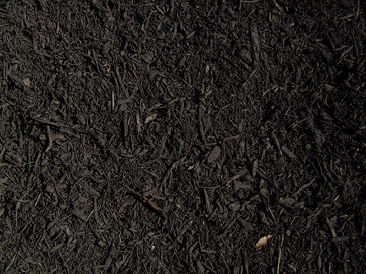 BLACK MULCH  $33 per yard Our top seller this year, black has become the new brown. It adds a rich and dramatic touch to your landscaping. Shredded, double ground and organically dyed and processed. The colorants used are environmentally safe and nontoxic to children, pets and plants.