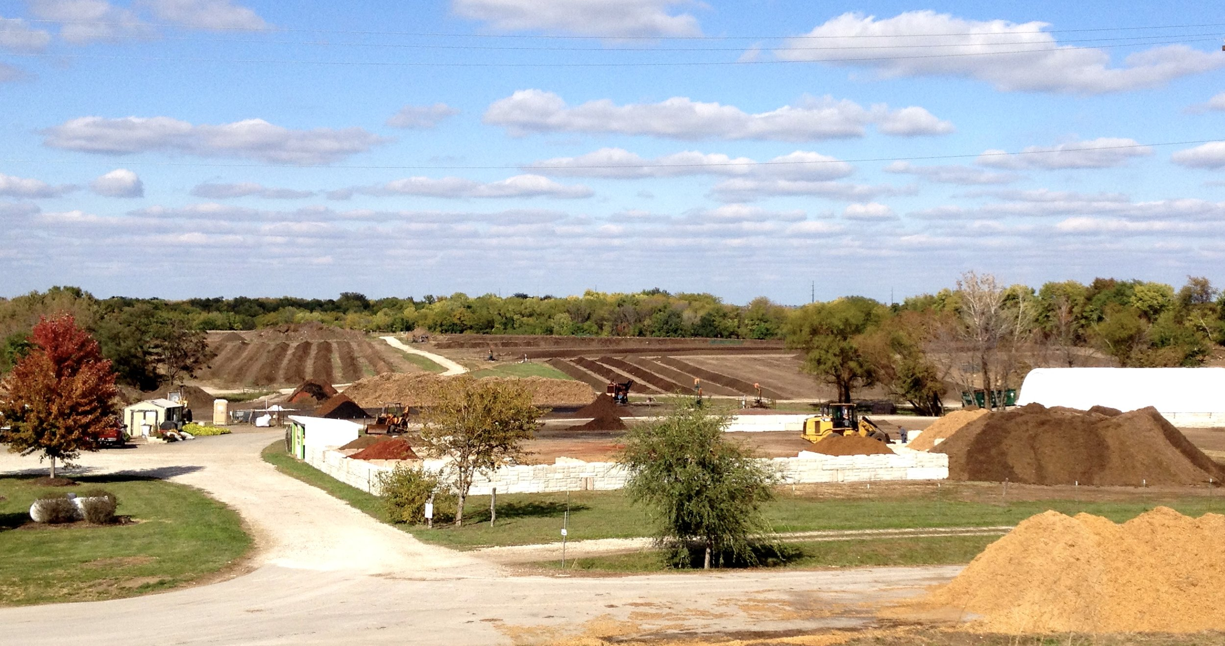 Lawn-Corps' 37 acre composting facility in Belton, Missouri.